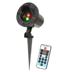 QTX RG Firefly Red + Green Outdoor Garden Cluster Laser Light IP IP65 + Remote